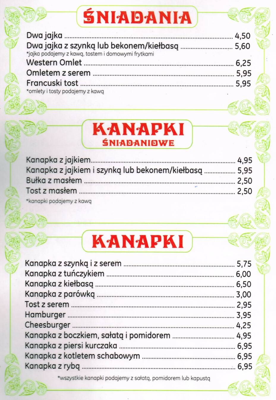 Polish Restaurant Polish Menu